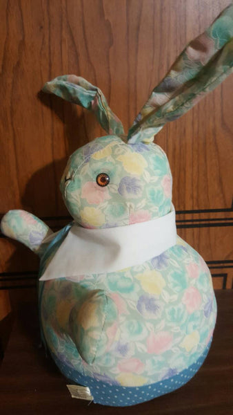 Easter Bunny, adorable floral stuffed plush, Rabbit, cute Bunnies, toys, gifts for Easter, stuffed animals, Easter Basket stuffs