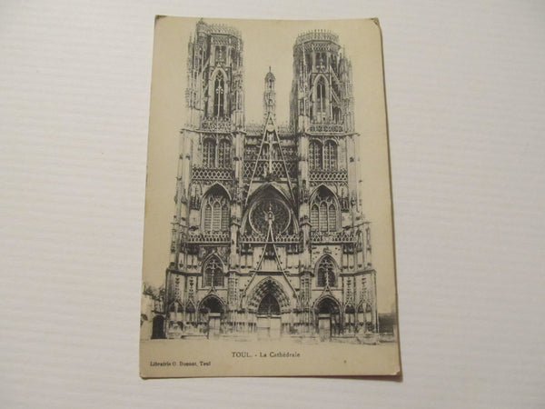 Toul La Cathedrale Carte Postale, FREE SHIPPING
