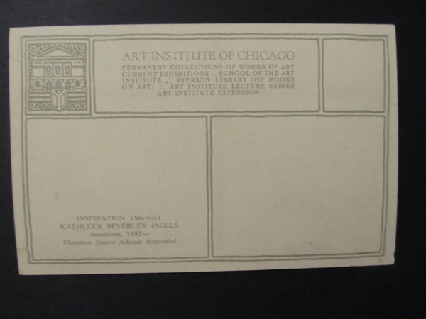 Art Institute of Chicago, Kathleen Beverley Ingels, Postcard, FREE SHIPPING