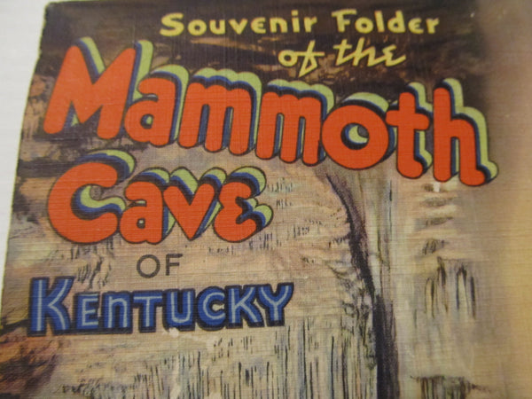 Souvenir Folder, Mammoth Cave of Kentucky, Postcard pack, FREE SHIPPING