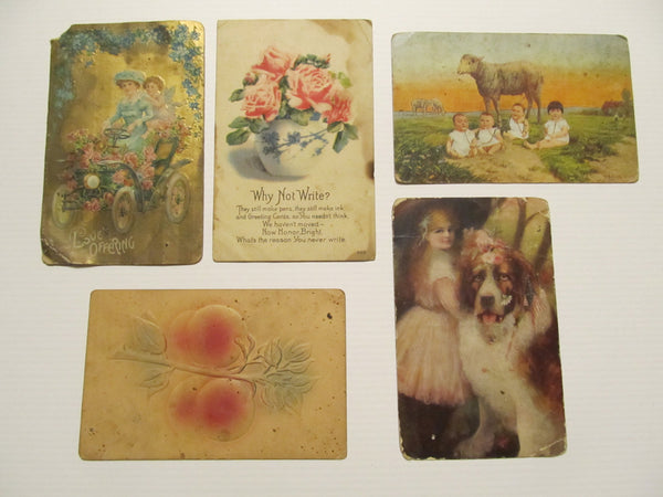 Five Various Postcards, UseD FREE SHIPPING