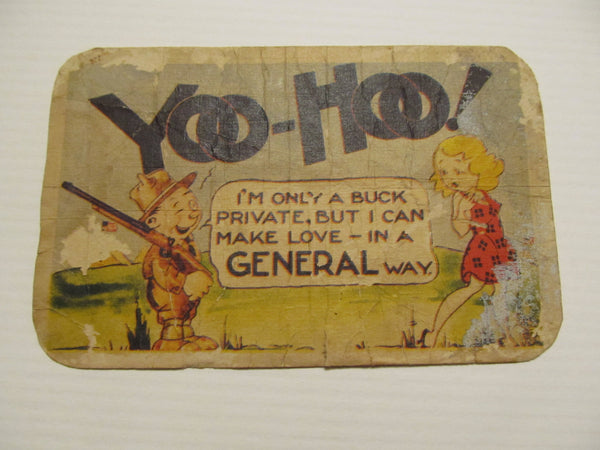 Yoo Hoo! Military Novelty Postcard, FREE SHIPPING