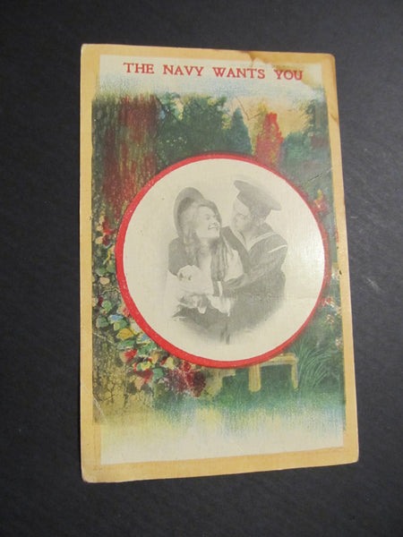 The Navy Wants You, Photograph, Military Postcard, Bamforth & Co LTD, FREE SHIPPING