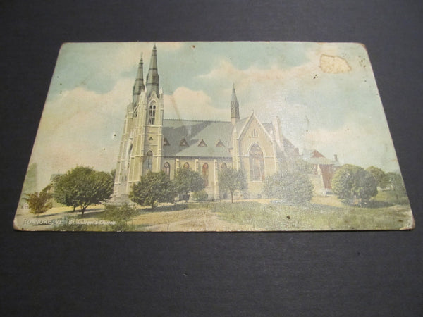 ROANOKE, Va St Andrew's Church, Postcard, FREE SHIPPING