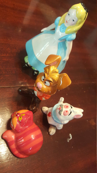 Alice in Wonderland Characters, Porcelain Knicknack, Whatnot, BitsandBobs, vintage figures, FREE SHIPPING