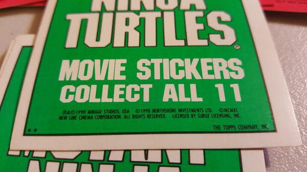 TMNT Movie Sticker CARDS, Collect all 11! The Topps Company, Inc, free shipping