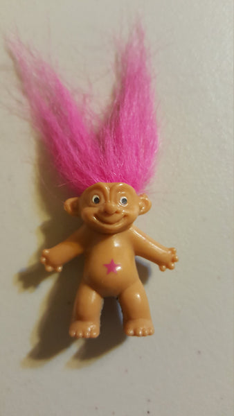 pink hair, don't care, TROLL pencil top DOLL