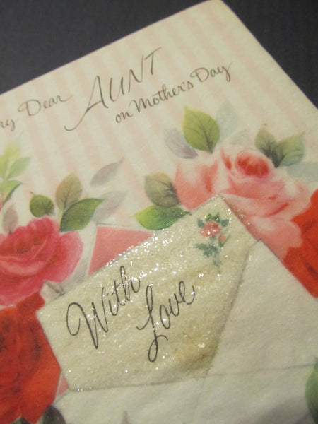 To a Very Dear AUNT on Mother's Day, With Love, Holiday Greeting Card, FREE SHIPPING