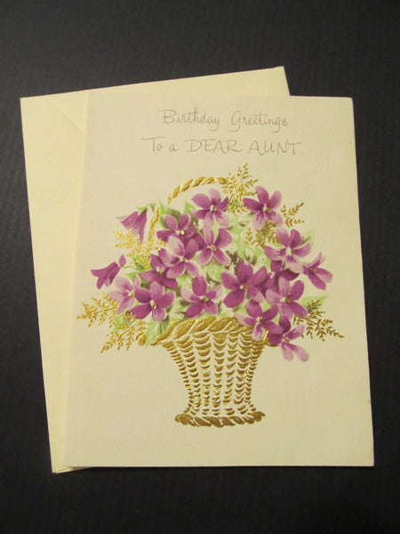 Birthday Greetings to a DEAR AUNT Greeting Card, FREE Shipping