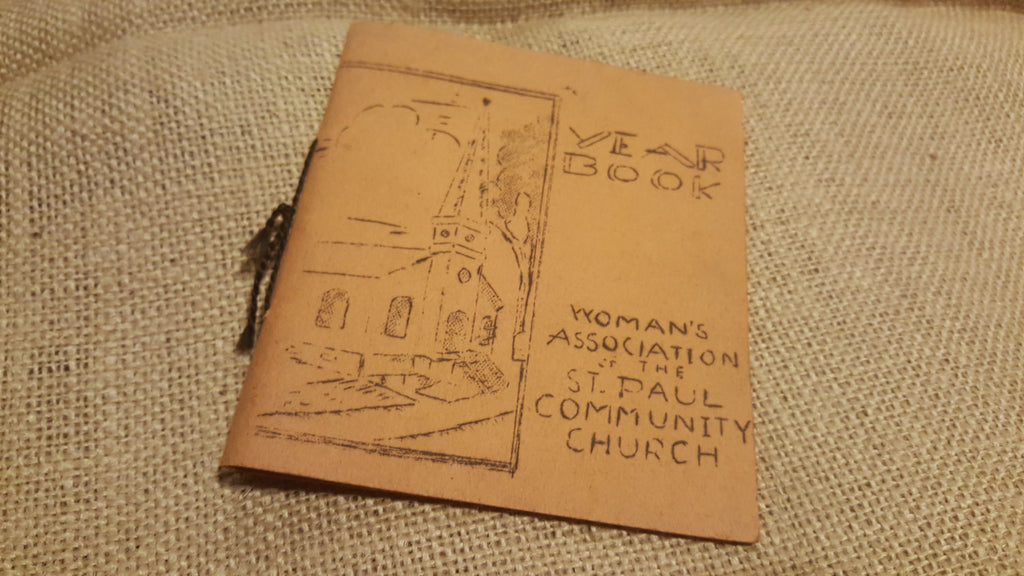 Year Book, Woman's Association of the St Paul Community Church, paper book