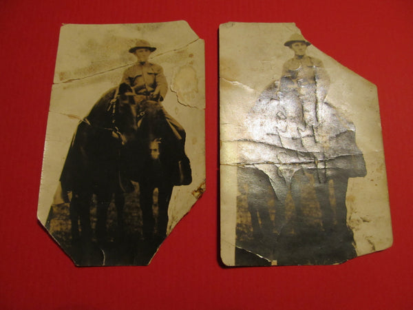 2 Postcards, Solider on Horseback, FREE SHIPPING