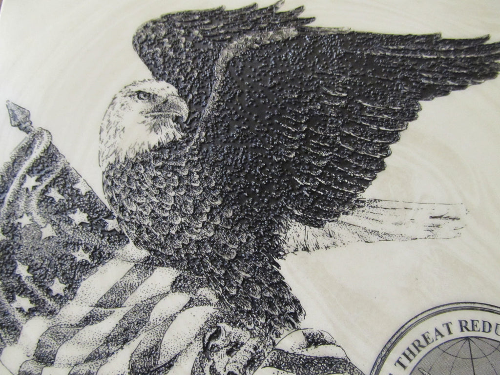 American Flag & Eagle Marble Engraving Wall decor