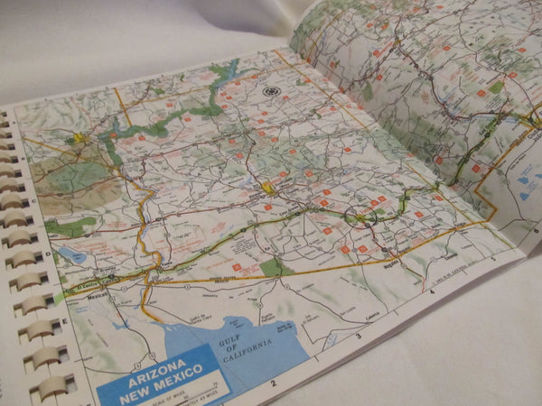 Amoco, Motor Club, Book of maps, pages of maps, H.M Gousha, fold out pages! United States Maps, Atlas Book, map Maps MAPS!