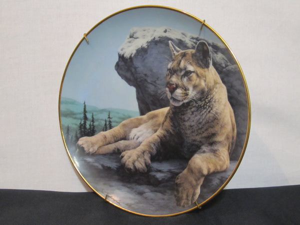 National Wildlife Federation, Limited Edition, Fine Porcelain, The Franklin Mint, Decorative Plate, Prince of the Mountain by Skirka,Big Cat