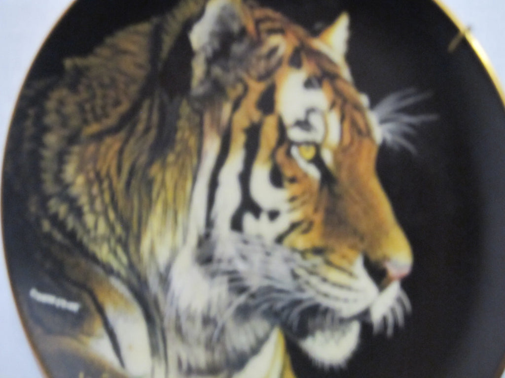 The Hamilton Collection, Siberian Tiger, by Martina Richter, Nature's Majestic Cats, Fine Porcelain Plate, wild cats