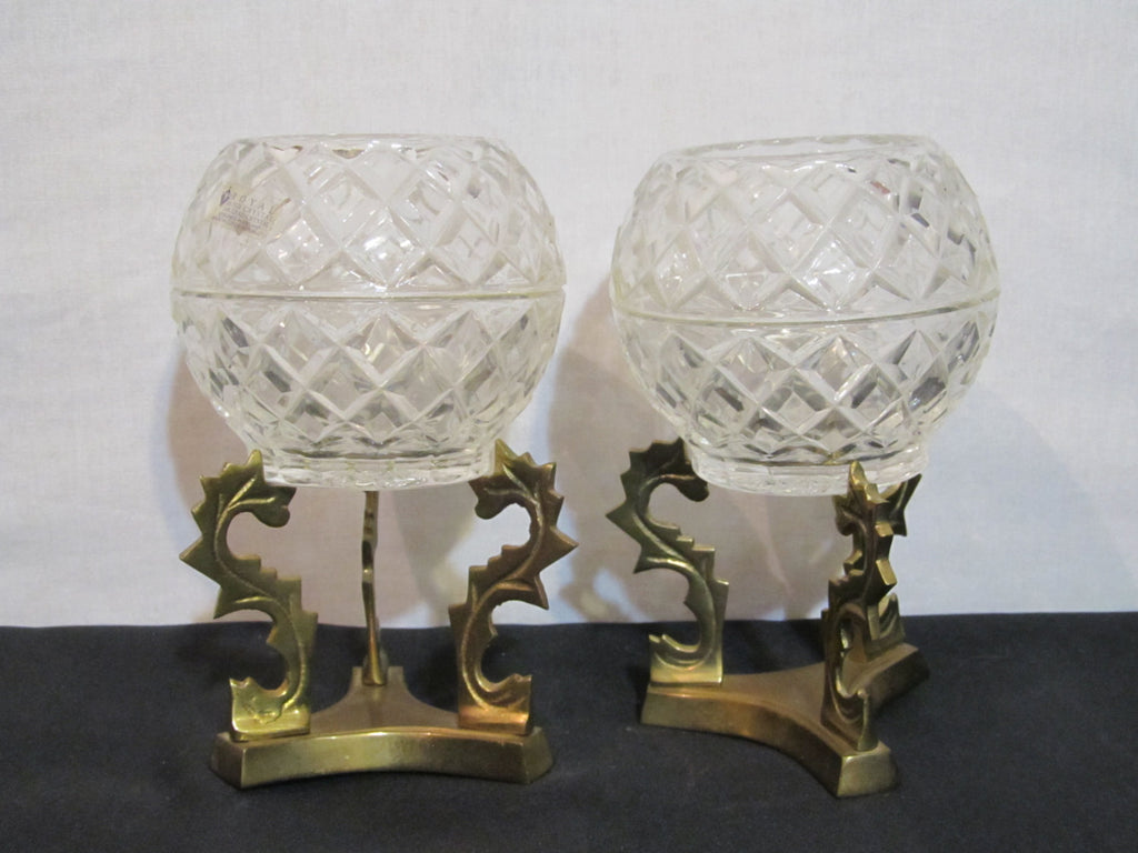 Royal Irish Crystal, 24% Lead Crystal, Candle Votive, Brass Stands, Candle Decor, Decorative Candles, Crystal, Home Decor, Wedding Decor