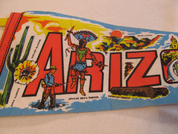Arizona, Road Trip Travel, State Souvenirs, Pennant, Souvenirs, Pennents, Pennants, Travel Collectibles, FREE shipping
