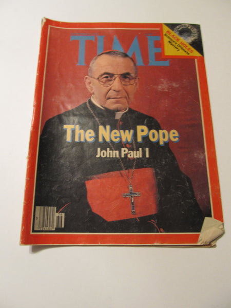 Time Magazine, September 4, 1978, 1970's Advertisements, Paper Ephemera, Memories, Pope, The New Pope, John Paul I,  FREE shipping