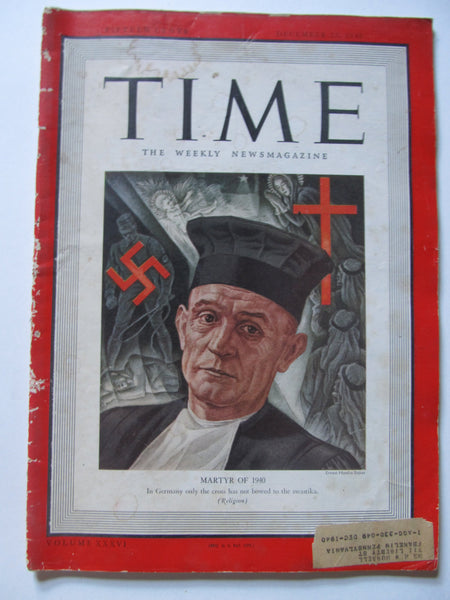 Time Magazine, December 23, 1940, Military, World War II, History, 1940's Classic Car Advertisements, Paper Ephemera, Memories, FREEshipping