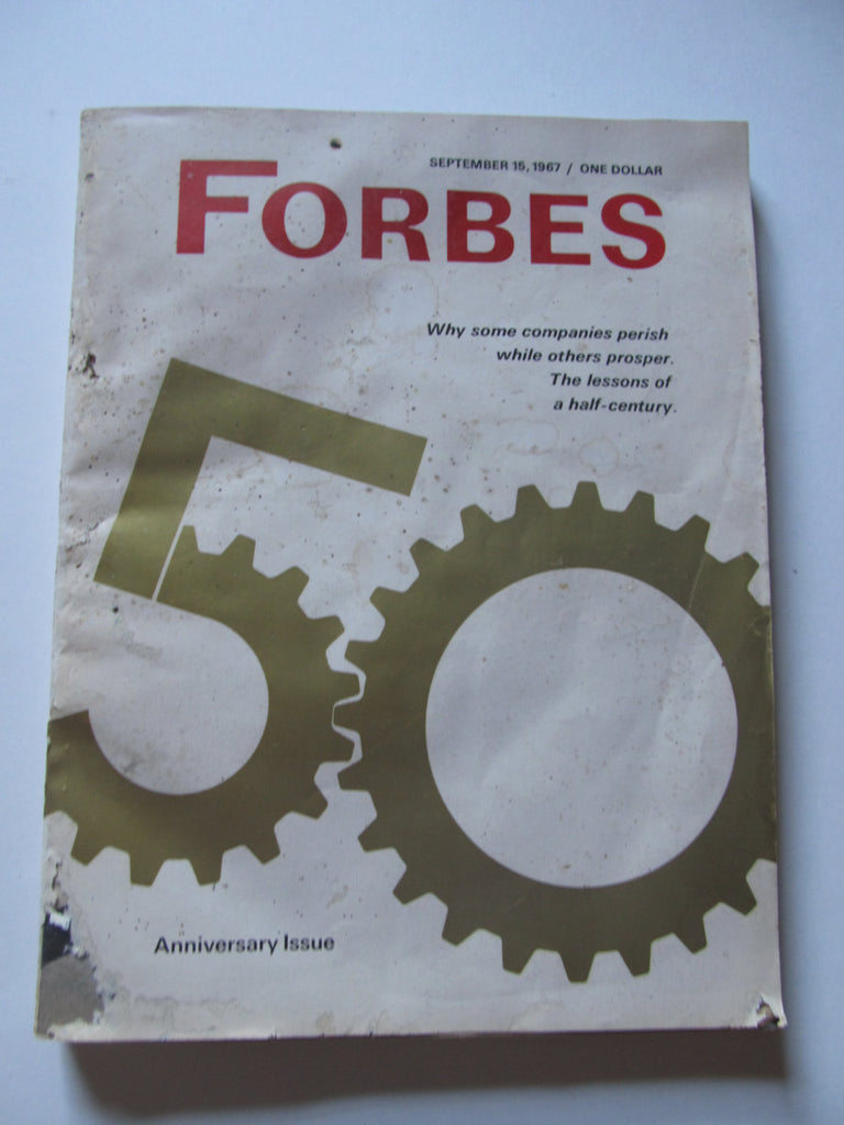 Forbes 50 Magazine, September 15, 1967, vintage 1960s Magazines, yesteryear Anniversary Issue