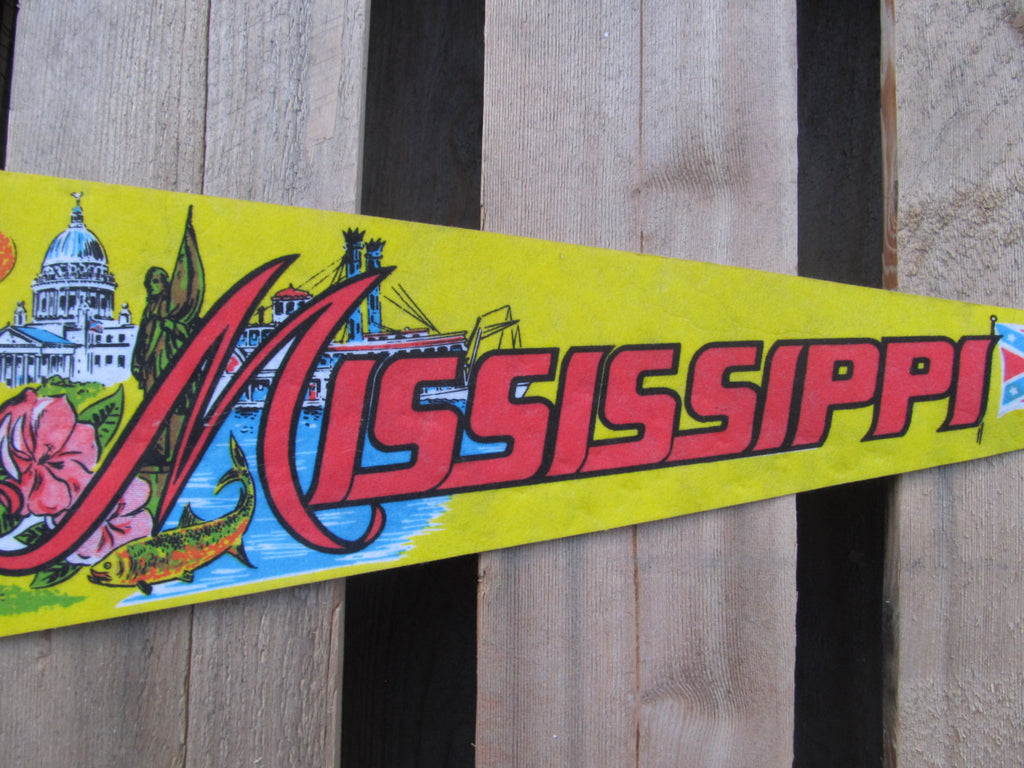 Mississippi State, Pennant, Souvenirs, Pennents, Pennants, Travel Collectibles, FREE shipping, Rebel Flag