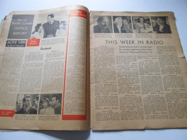 Movie, Radio Guide Magazine, 1960's, Large Magazines