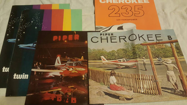 Airplane Advertisements from the 1960s, Cherokee and Piper brochures