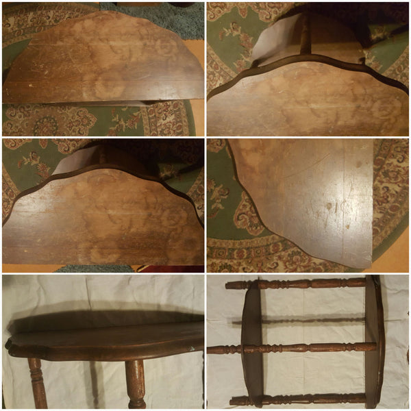 Antique, half moon, cute little Table, FREE SHIPPING