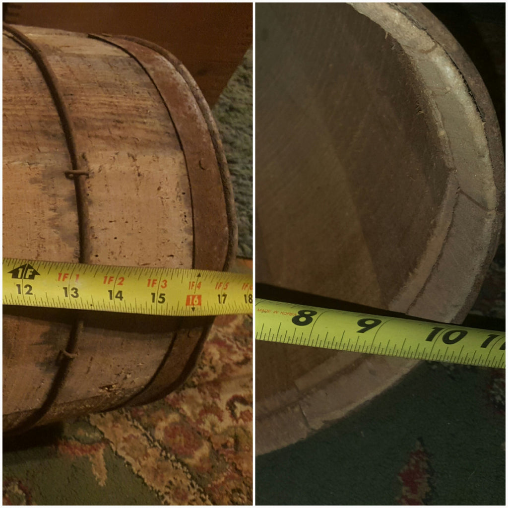 Round Wooden Barrel
