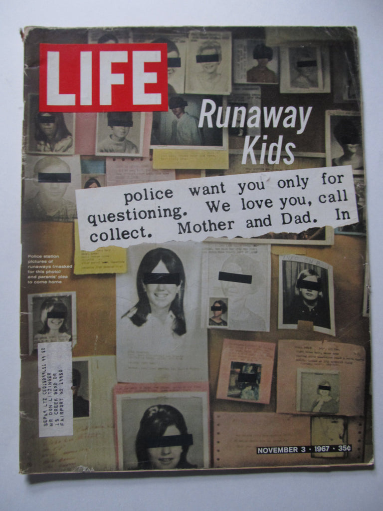 November 3, 1967, Runaway Kids, LIFE Magazine