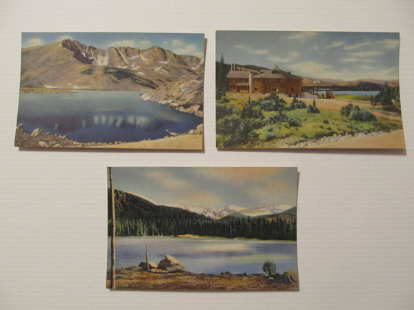 Colorado Landscape Post Card, Mount Evans, Echo Lake, C.T. Art-Colortone,  FREE Shipping