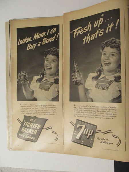 LIFE Magazine, March 27, 1944, Infantry Landing, great advertisements!
