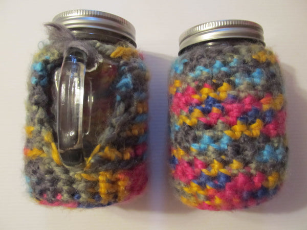 Mason Jars and Colorful Cozies, free shipping