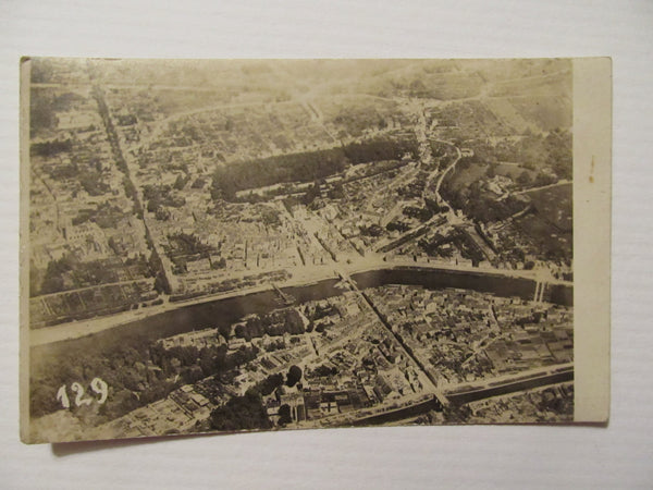 Aerial, Cityscape, Landscape, RPPC, Postcard, unknown city, FREE SHIPPING