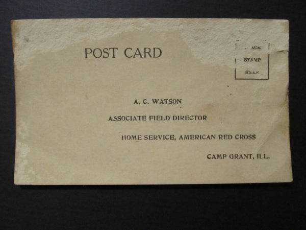 Odd Rare Military Mail back Postcard, FREE SHIPPING