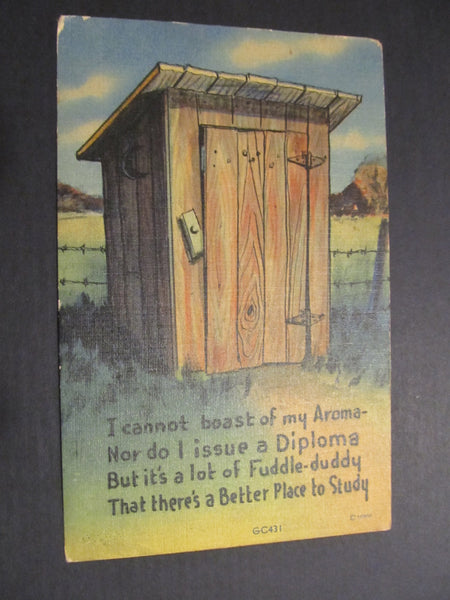 Outhouse Poem Postcard, FREE SHIPPING