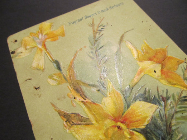 Fragrant flowers to mark the hours, Raphael Tuck's and Sons, Postcard, FREE SHIPPING