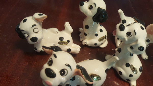 6 Dalmations, vintage porcelain decor, knicknacks, whatnots, bitsandbobs, walt disney