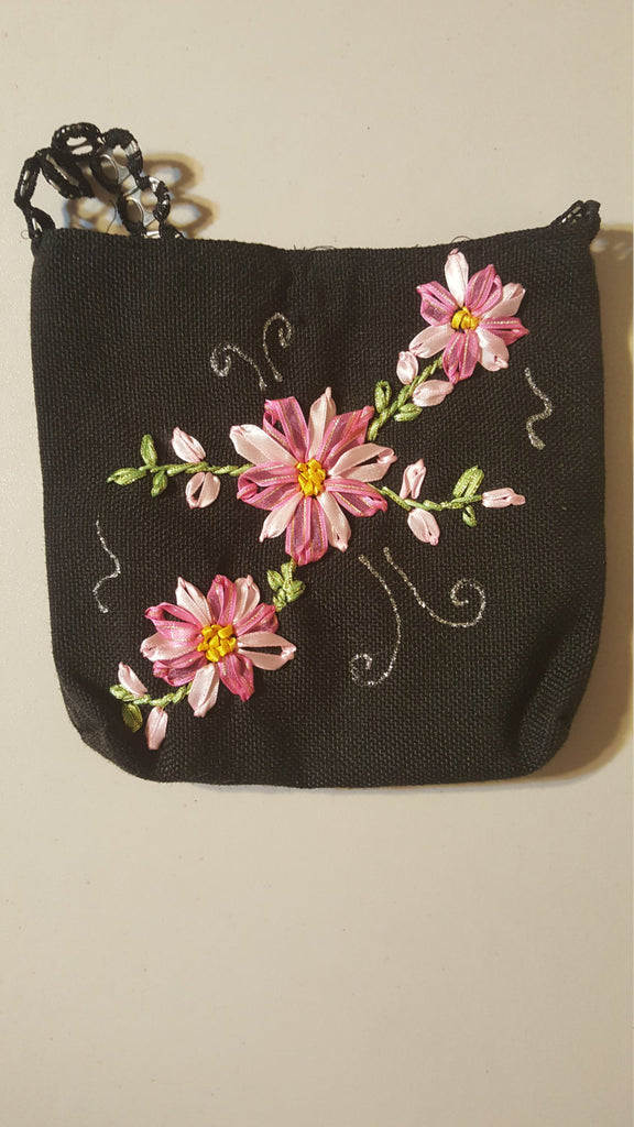Cute Pink Floral Purse