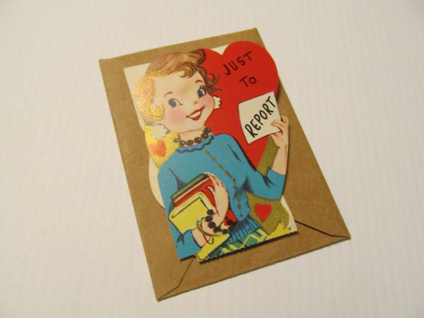Just to Report A Happy Valentine's Day Greeting Card, FREE SHIPPING