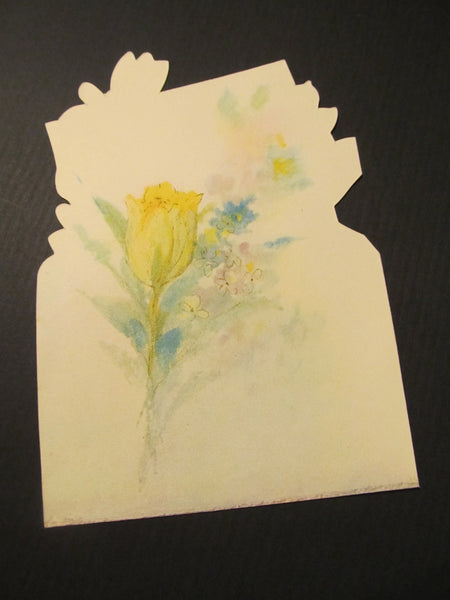 To a Dear Aunt at Easter Time, floral Greeting Card, FREE SHIPPING
