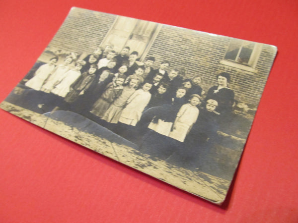 Group of School children, Teachers, Postcard, FREE SHIPPING