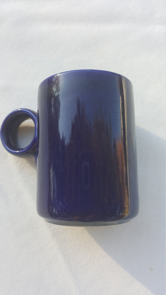 Magnetic Dark Blue, Large Finger Loop/Hole, Coffee Cup, or Tea, or KoolAid, or Water
