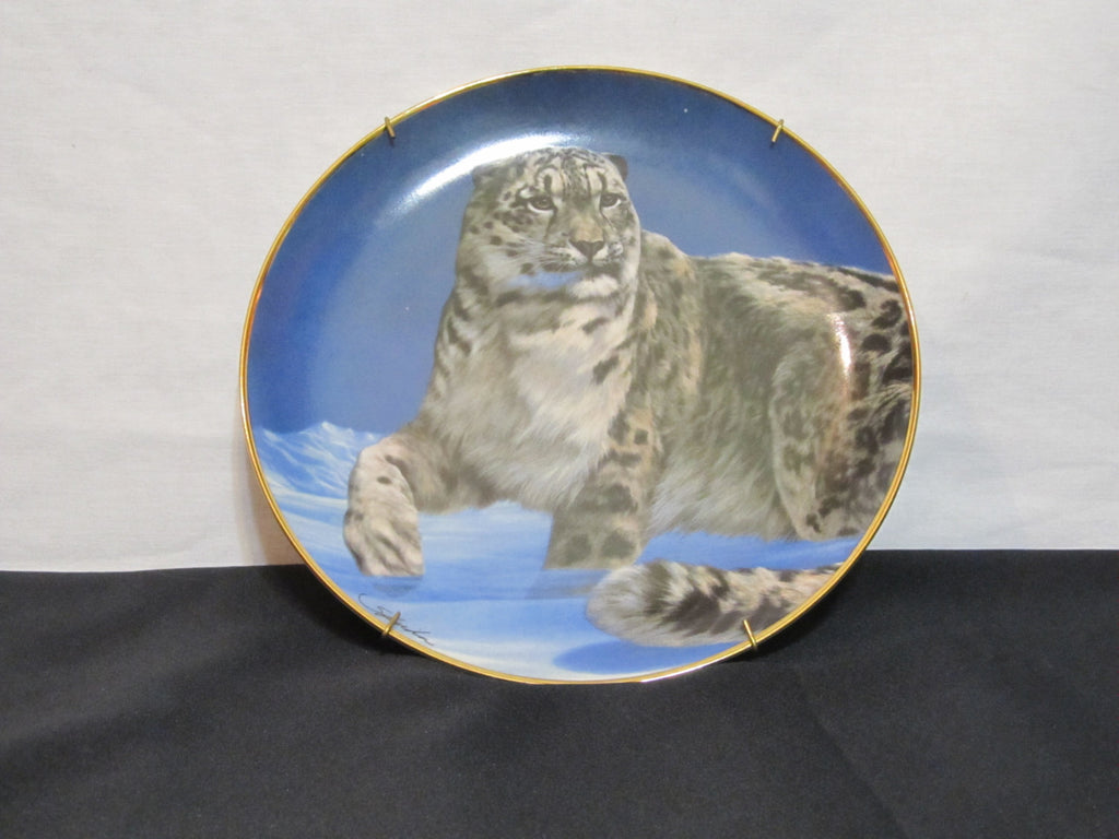 National Wildlife Federation, Limited Edition, Fine Porcelain, The Franklin Mint, Decorative Plate, by Skirka, Master of the Tundra, Big Cat