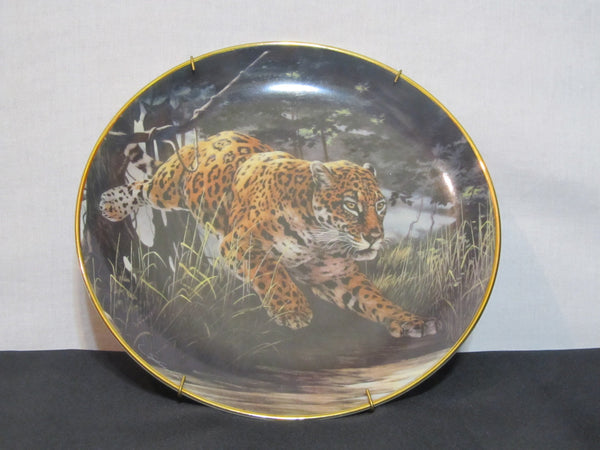 National Wildlife Federation, Limited Edition, Fine Porcelain, The Franklin Mint, Decorative Plate, by Skirka,Night Stalker, Big Cat