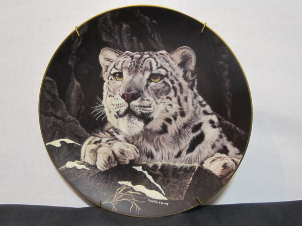 The Hamilton Collection, Himalayan Snow Leopard, by Martina Richter, Nature's Majestic Cats, Fine Porcelain Plate, wild cats