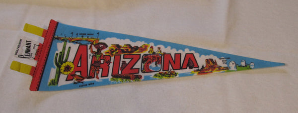 great condition! Arizona Travel Pennant, Pennents, Pennants, Souvenir, Travel Collectibles, FREE shipping
