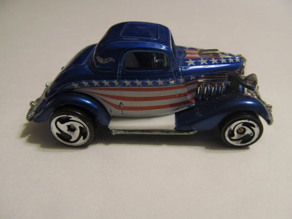 American Hot Rod, Rat Rod, red, white and blue, stars and stripes, Hot Wheels, diecast, model cars, classic cars, vintage toys, collectibles