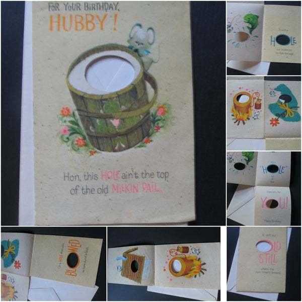For your Birthday HUBBY! Happy Birthday, RARE Greeting Cards, for Husband, odd cards, vintage, full of love, bday,