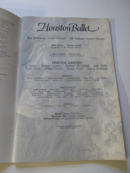 Houston Ballet, Ballet Performing Arts, dancing, dancers, Ballerina, vintage show shows, Ballet Souvenirs, mags, Houston Texas, plays